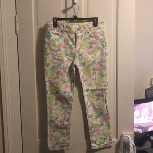 Talbots Heritage fit Butterfly 🦋 print jeans